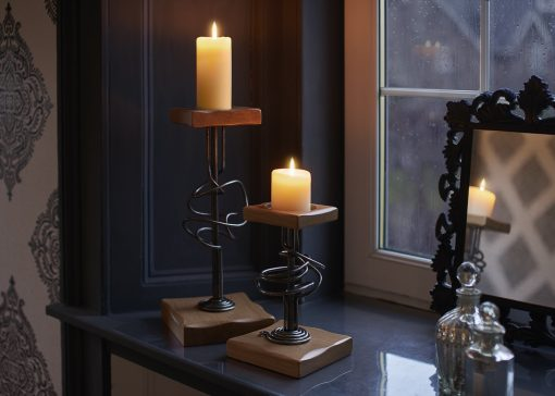 Canterbury candle holders
