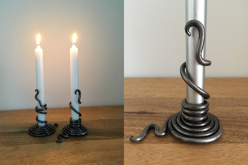 Warwick Collection - Candle Holder in iron £55